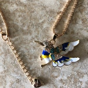 [NWOT] Betsey Johnson Hummingbird Necklace